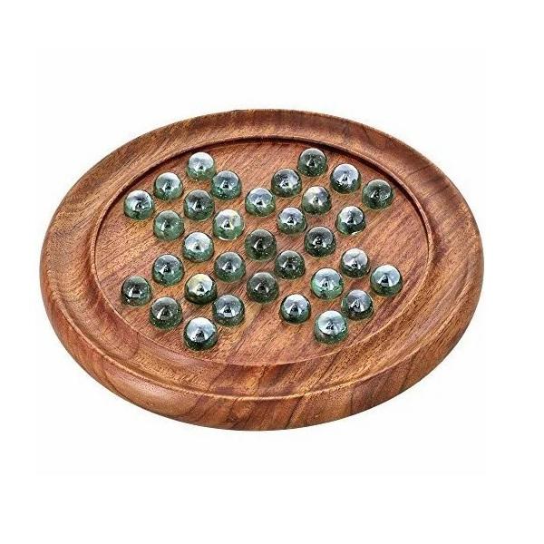 Saudeepindia Wooden Solitaire Game